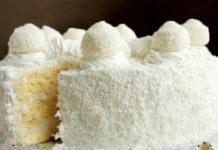 Кокосовый бисквит для торта - рецепт