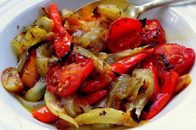 Маринованные овощи запечённые в духовке