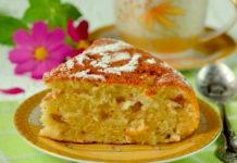 Пышный манник на кефире с яблоками: рецепт в духовке