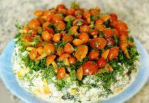 """Салат """"Сосновый бор"""" с опятами - рецепт на праздник"""
