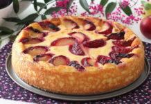 пирог со сливами на кефире - рецепт простой и быстрый