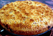Немецкий сливовый пирог со штрейзелем - пошаговый рецепт