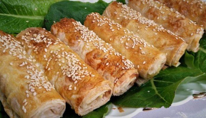 Трубочки из лаваша с разными начинками, с сыром, творогом, на сковородке