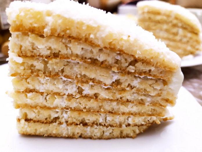 Манный торт без духовки - рецепт пошагово