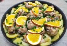 Курица с апельсинами и картошкой на праздничный стол