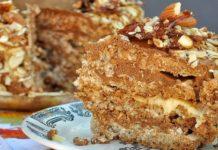 Торт без муки Королевский ореховый