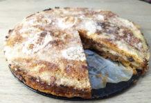 Яблочный насыпной пирог 3 стакана с манкой - простой рецепт